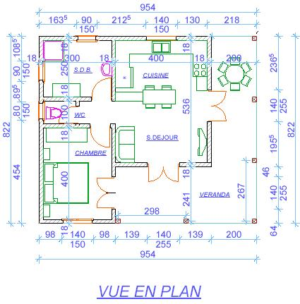 projet de construction la lecture du plan. Black Bedroom Furniture Sets. Home Design Ideas